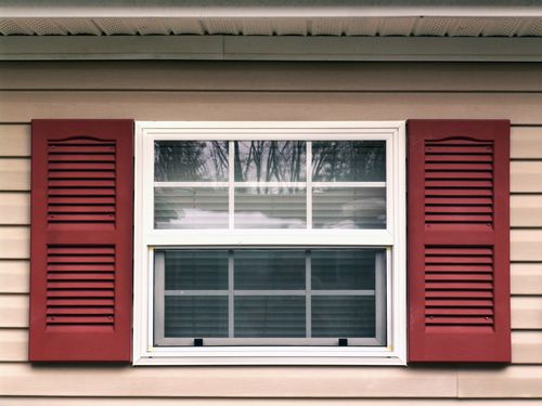 Window capping with exterior window shutter
